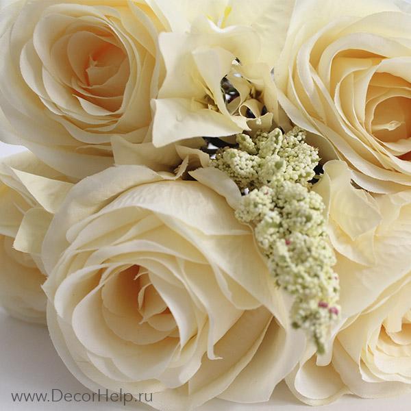 Высококачественные текстильные цветы розы купить