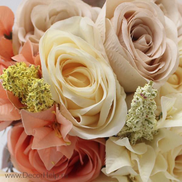 Искусственные розы для свадебного декора