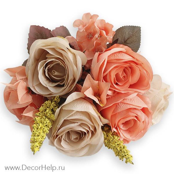 Букет роз текстильные цветы оптом