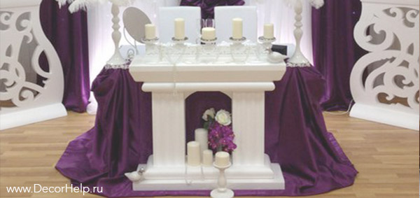 декоративный камин на свадьбу
