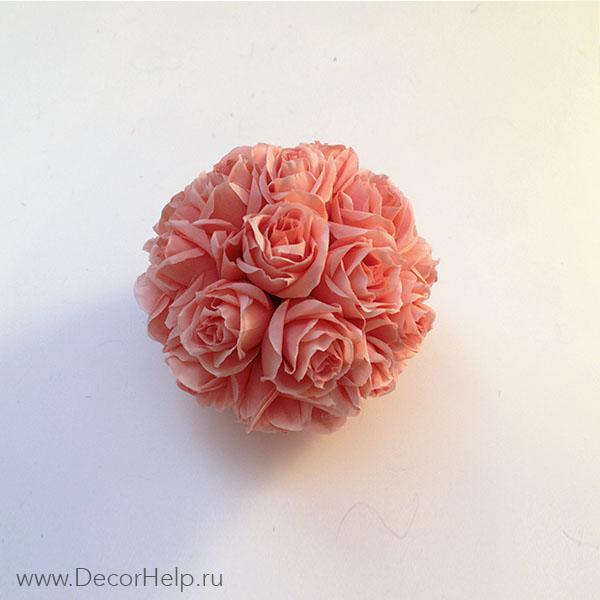 Декоративные шары из цветов
