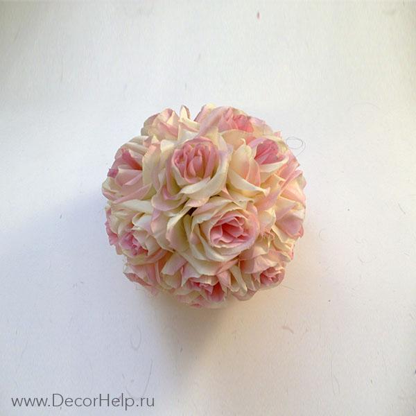 Шары из искусственных текстильных роз