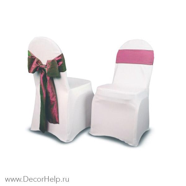 белые стрейч чехлы на стулья оптом