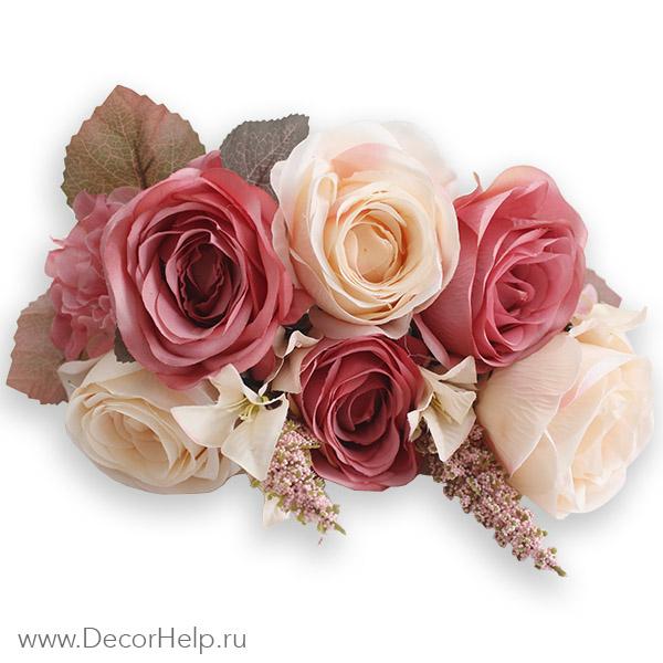 Искусственные цветы розы купить