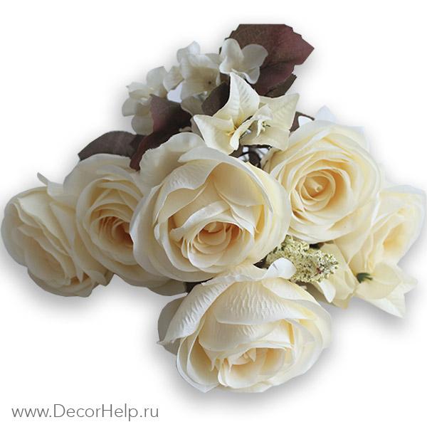 Искусственные свадебные цветы розы
